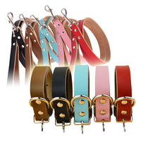 Leather Dog Collar and Leads