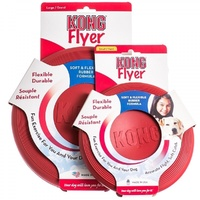 KONG Rubber Frisbee Flyer Dog Toy - Fetch & Catch - Small & Large Available pup