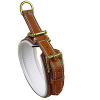 Padded Dog Collar - Genuine Leather