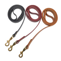 Red, Black, Yellow Leather Dog Leads