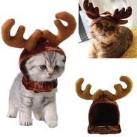 Pet Reindeer Hat - Cats & Dog Costume
