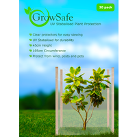 Tree Protection Tube - GrowSafe Extra Wide Clear Design